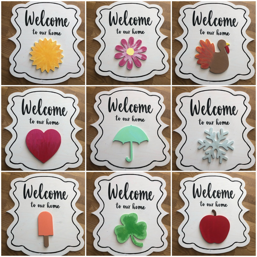 Welcome  Switch Plate Door Hanger (20in