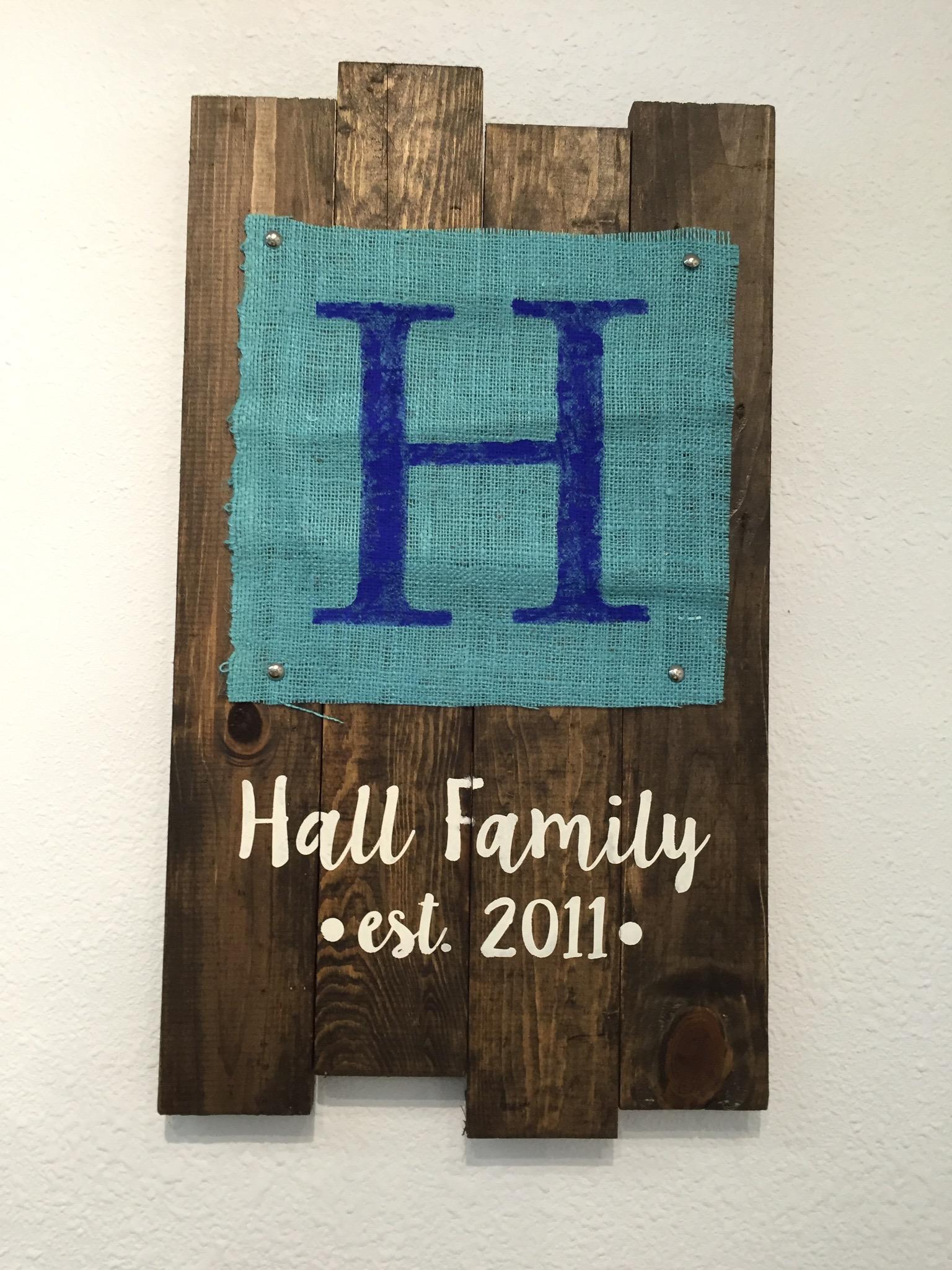 Family Burlap Sign