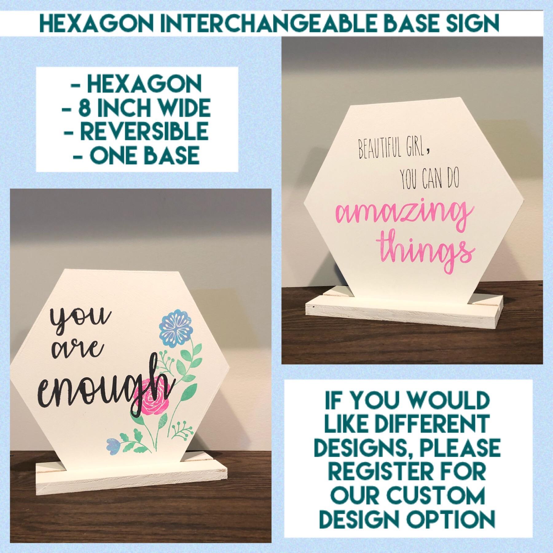 Interchangeable base - Hexagon