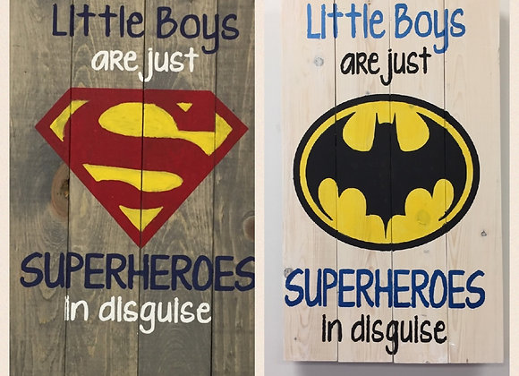 Little boys are Superheros