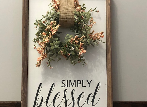 Simply Blessed-Wreath