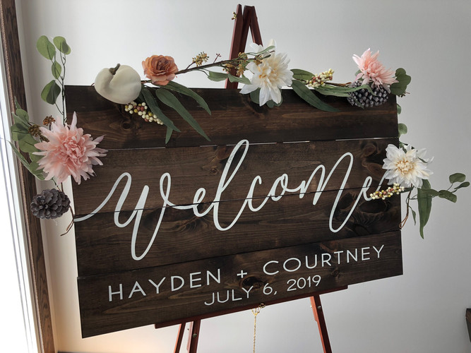 24in x 36in Wedding Welcome Sign