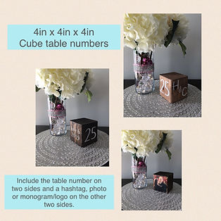 Cube Table Number