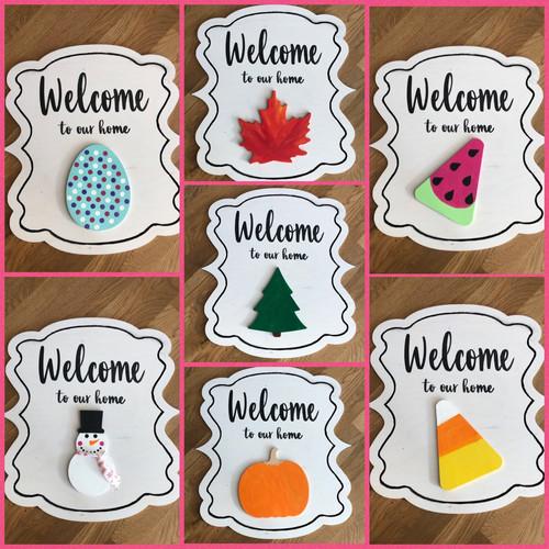 Welcome  Switch Plate Door Hanger (20in