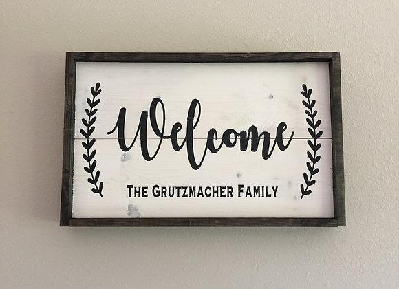 Welcome framed
