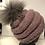 Thumbnail: Rosa hue med ræve pompon