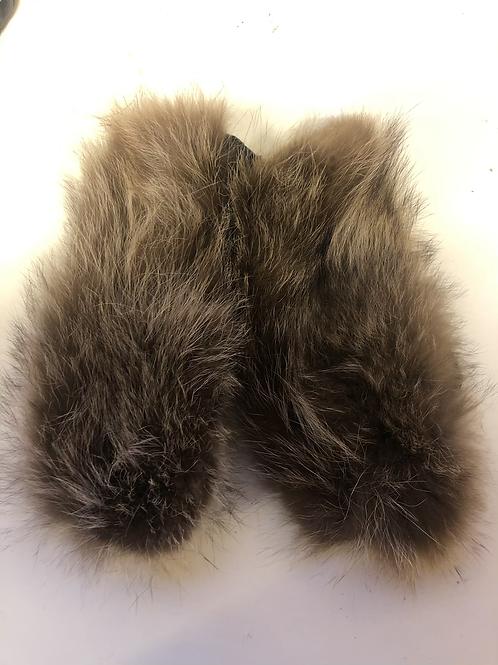 Unika luffer uld/vaskebjørn