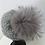 Thumbnail: Grå blød uld med stor ægte pompon