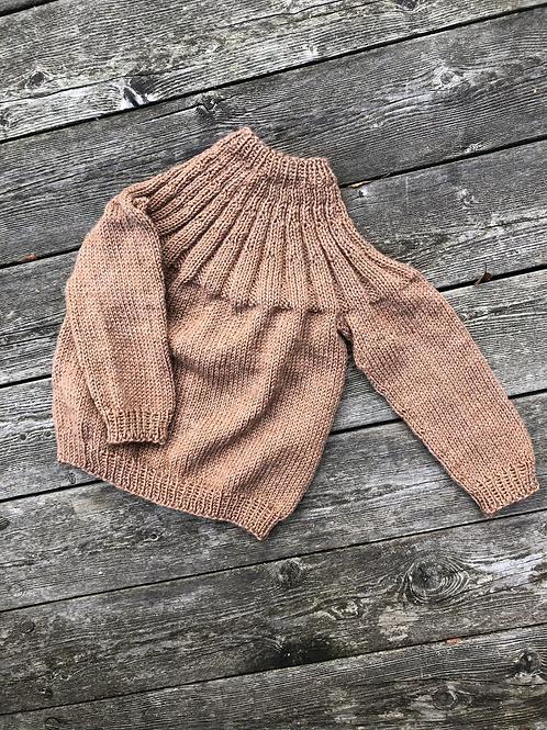 Str 18 mdr conag farvet uldsweater