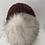 Thumbnail: Unika strikhue med stor ægte pompon