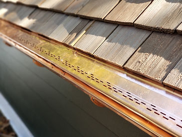 copper gutter protections