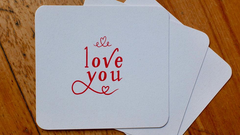 Love you - wenskaart