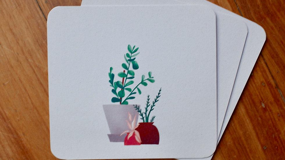 Huisplant - wenskaart