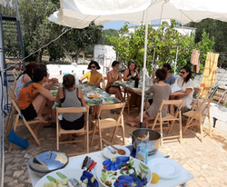 lunch at the villa patof