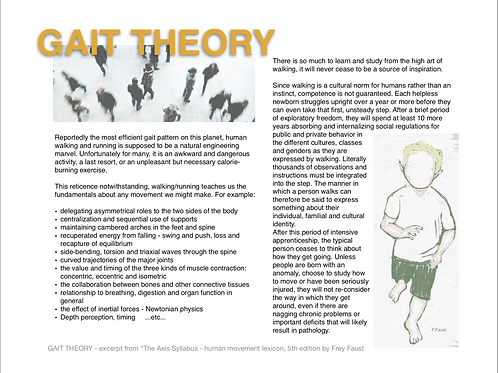 A.S. GAIT THEORY -THE MANUAL ON WALKING - PDF format