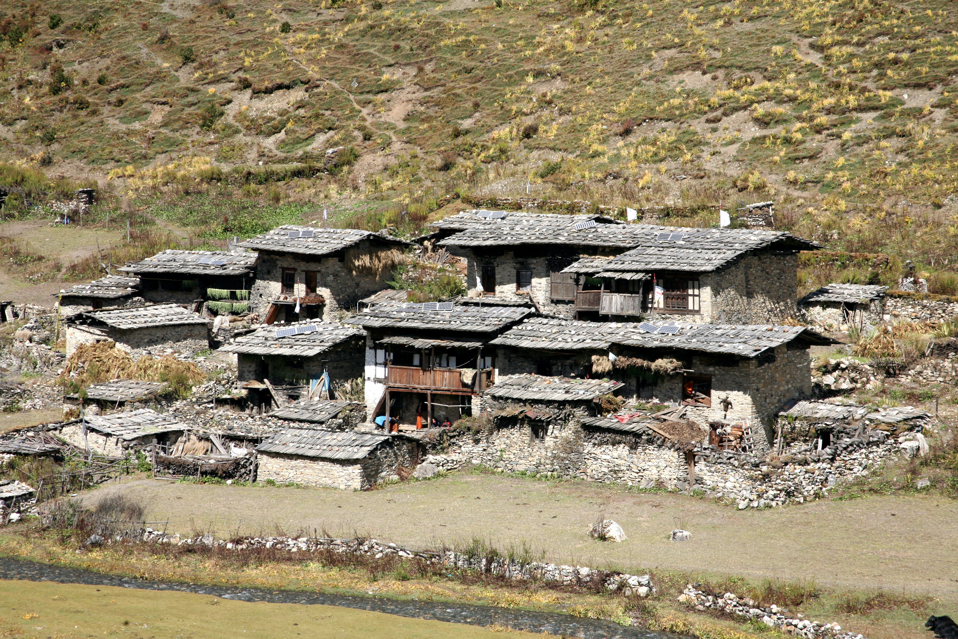 Bhutan Rustic Mountain Village Town