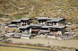 Bhutan Rustic Mountain Village Town