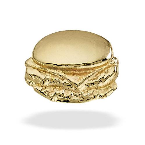 14k Gold Burger top threaded