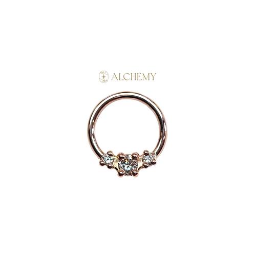 """14K Gold Ceri Ring 18g 5/16"""""""