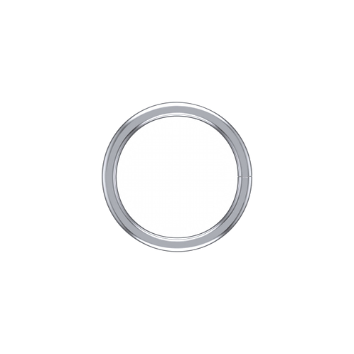 14k WHITE gold continuous ring