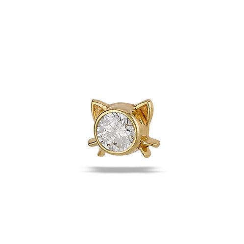 14k Gold Lil Kitty Top Threaded