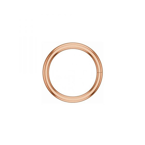 14k ROSE gold continuous ring