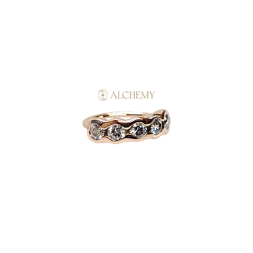 14K Gold Saran Ring 18g