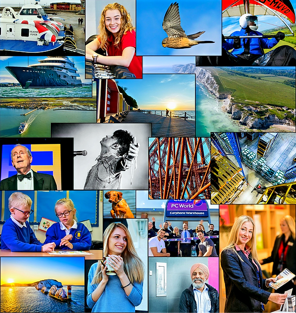 Photographer Isle of Wight home page montage