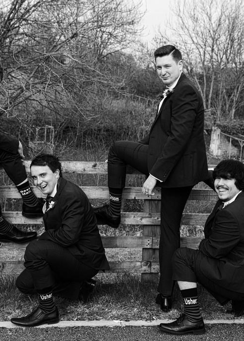 groomsmen show socks