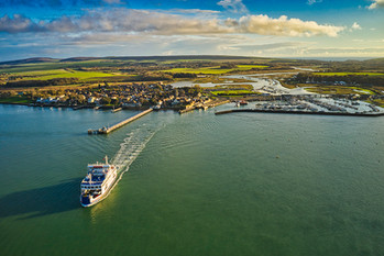 Isle of Wight Drone Yarmouth Wightlink