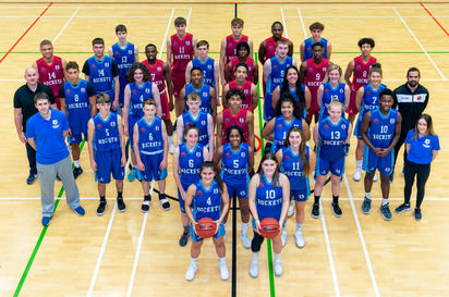 Basketball team photograph