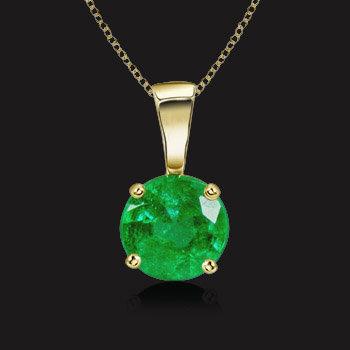 Solitaire Emerald Pendant