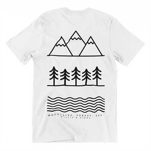 Mountain, Forest, Lake Tee