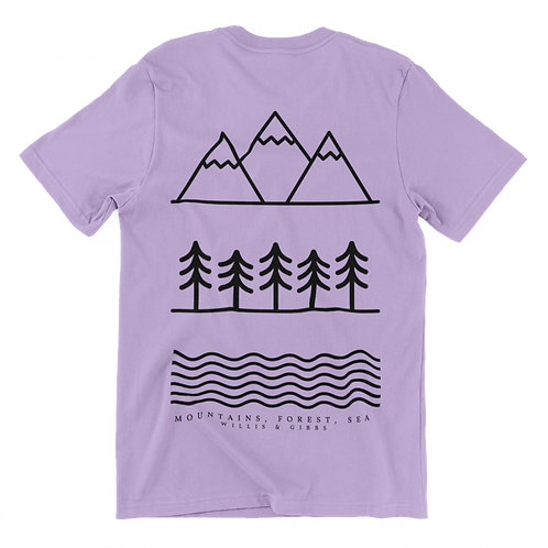 Mountain, Forest, Lake Tee