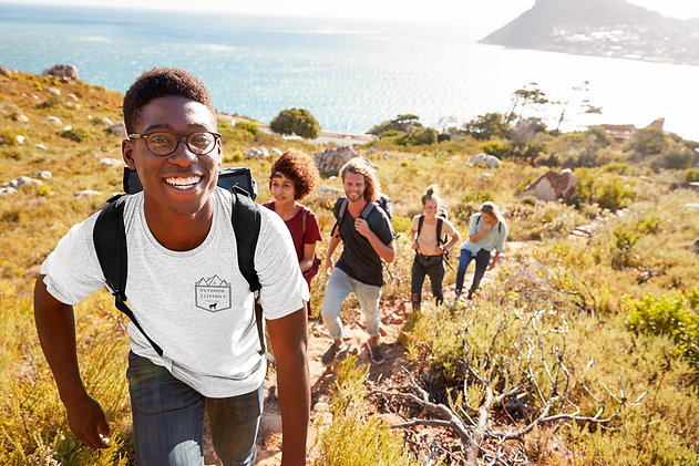 tee-mockup-of-a-smiling-man-with-a-hikin
