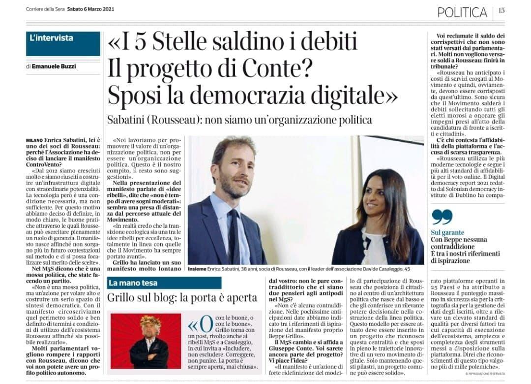 Corriere della Sera 6 marzo 2021