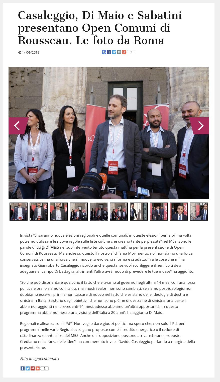 Formiche.net 14 dicembre 2019