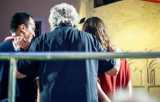 Enrica Sabatini con Beppe Grillo e Luigi di Maio evento M5s Termoli