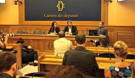Conferenza di presentazione della funzione call to action camera dei deputati con Roberto Fico