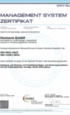 DIN ISO 9001/14001 Homann GmbH