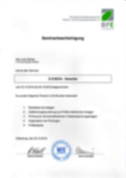 E-Check Gewerbe Zertifikat