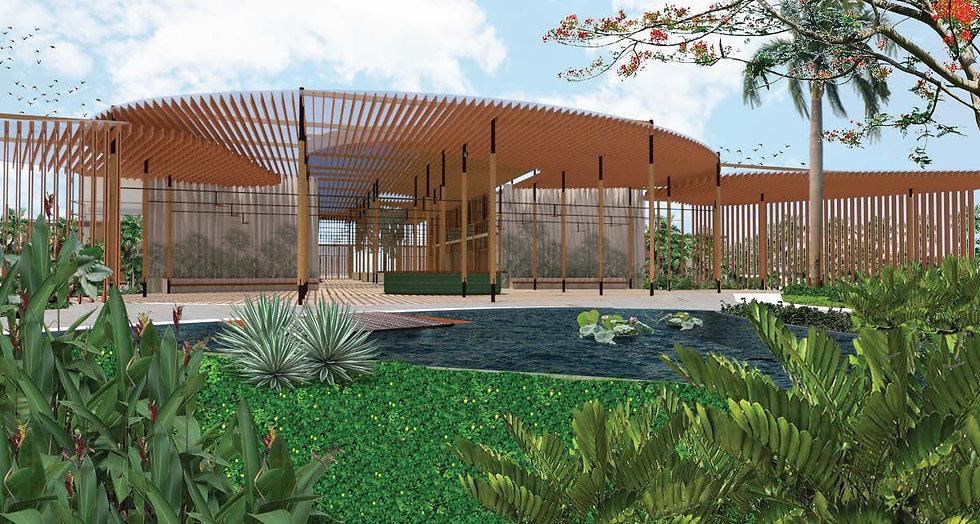 Resort open air lobby atrium