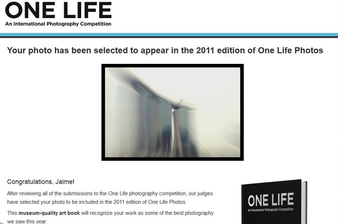 ONE LIFE photography competition