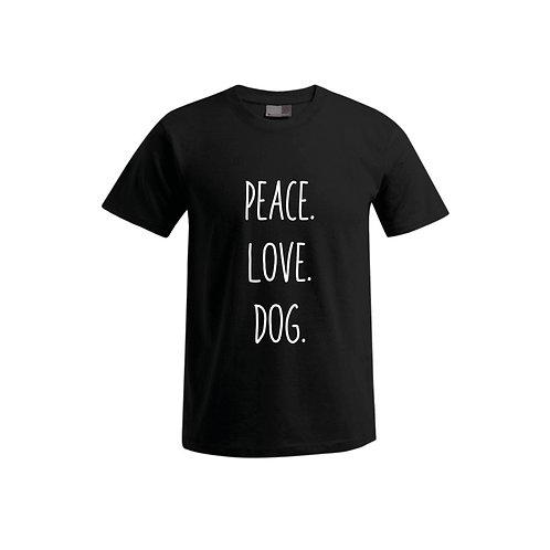 Herren T-Shirt - Peace.Love.Dog