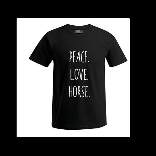 Damen T-Shirt - Peace.Love.Horse