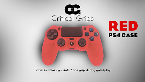 Critical Grips™ Red PS4 Case