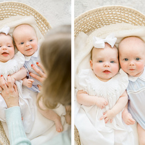 Little Rock Newborn Photographer   Lifestyle Twin Session