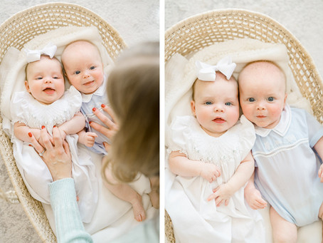 Little Rock Newborn Photographer | Lifestyle Twin Session