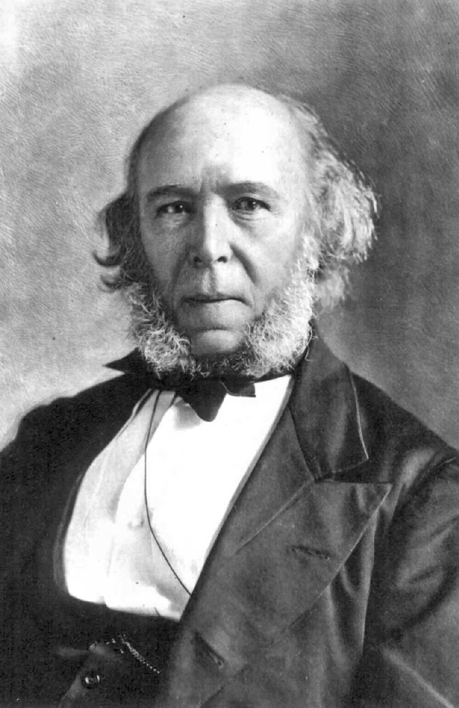 Herbert Spencer, auteur d'une théorie de l'évolution, était le principal concurrent de Darwin de son vivant. On a improprement qualifié sa pensée de « darwiniste sociale » © Photographie conservée dans les Smithsonian Libraries