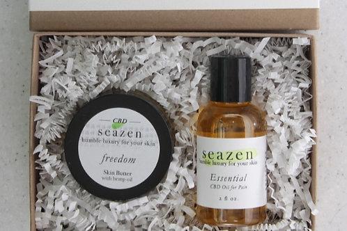 CBD Oil 'Essential' and CBD Cream Gift Set